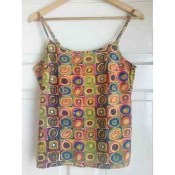 koszulka na ramiączkach vintage boho hippie 90s S