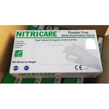 Rękawiczki nitrylowe białe L 100 sztuk