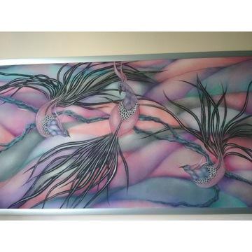 Stylowy obraz o wymiarach 100 x 52 cm