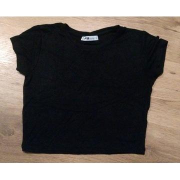 Krótka czarna bluzka S