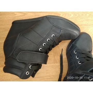 Botki sneakers 37 sneakersy koturny 7cm wygodne