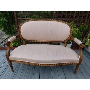 sofa Gustawianski styl remontowana 1989 rozowa nr