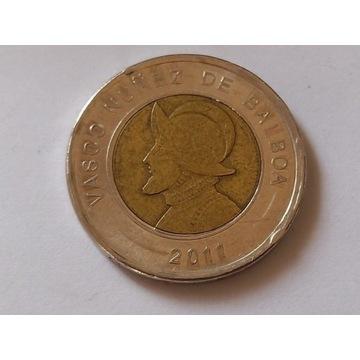 Obiegowa moneta Vasco nunez de balboa 2011 r