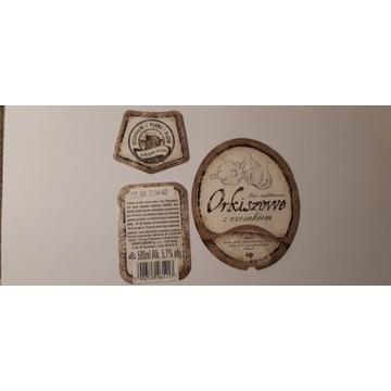 Etykieta Kormoran Orkiszowe z czosnkiem  2013 rok