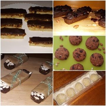 Wegańskie bezglutenowe słodycze bez cukru Fit box