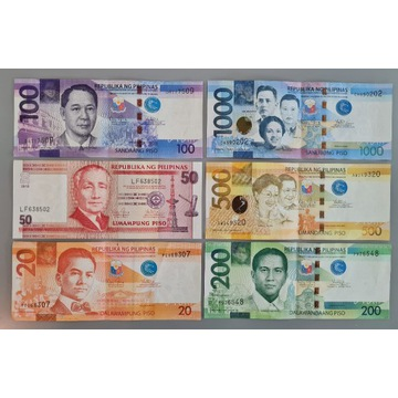 Filipiny - 20/50/100/200/500/1000 Piso