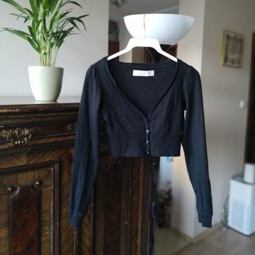 Czarny sweterek bolerko Zara - roz. 36, S