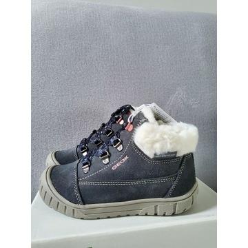 Nowe skórzane botki buty zimowe ocieplane geox  26