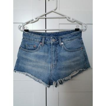 Shorty H&M jeansowe wysoki stan mom jeans 36 S