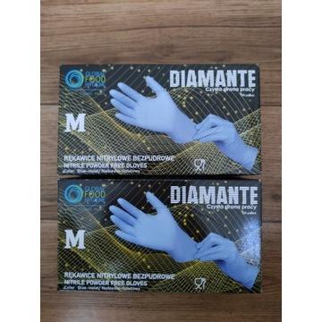 Rękawiczki nitrylowe bezpudrowe 100 szt M