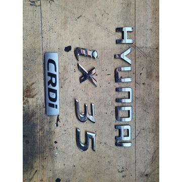 Ix35 hyundai znaczek emblemat napisy  klapy