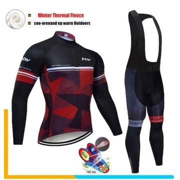 Komplet kolarski, odzież rowerowa,zima,jesień, XXL