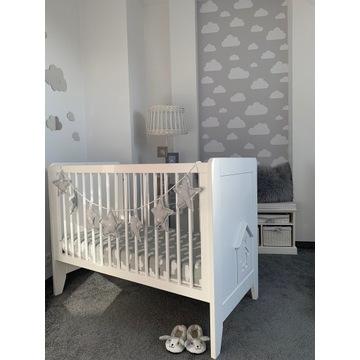Łóżeczko Noukie's białe 120x60 cm + materac+gratis