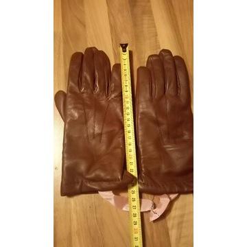 Rękawiczki damskie -brązowe -nowe