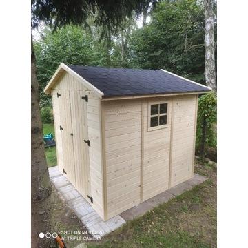 Domek ogrodowy narzędziowy drewniany 210x210