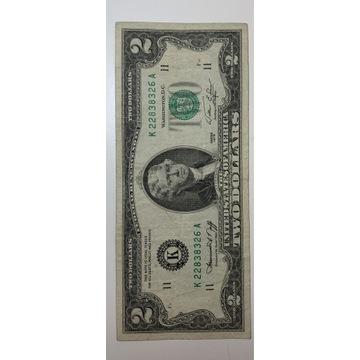 2 dolary 1976 R. Banknot z obiegu stan dobry