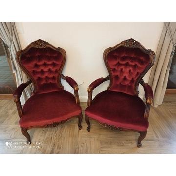 Fotele drewniane antyk XVIII wiek