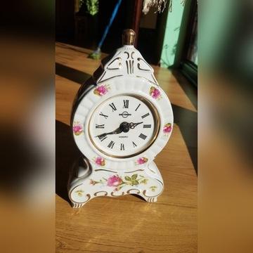 Zegar kominkowy porcelanowy chodzież kwarcowy
