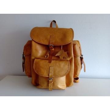 Kultowy plecak ze skóry naturalnej/ Cepelia