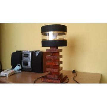 Lampka nocna drewniana