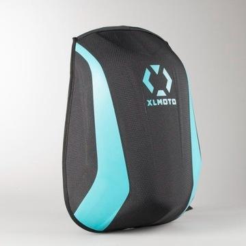 Plecak motocyklowy XLMOTO Skorupowy niebieski