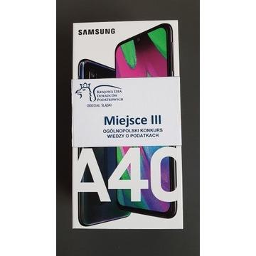 Nowy Samsung Galaxy A40 SM-A405FN Czarny, nagroda