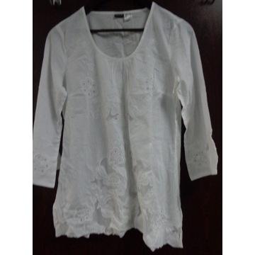 Biała bluzka, haft, bawełna. Nowa, rozm. 40