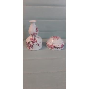 Wallendorf kwiat wiśni porcelana
