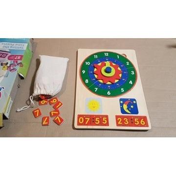 Drewniane puzzle zegar
