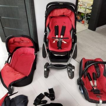 Wózek dziecięcy Maxi Cosi Mura 3 w 1+torba dodatki