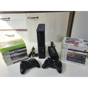 Xbox 360 250gb.2 pady. 23 gry.