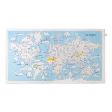 Obrus Mapa świata do kolorowania