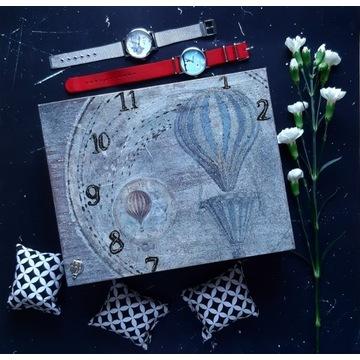 zegarek skrzynka na 16 zegarków balony - handmade