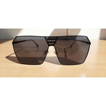 VERSACE okulary słoneczne męskie lekkie metalowe