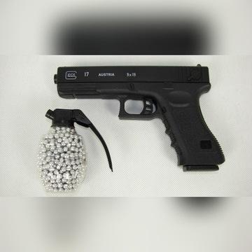 Pistolet na kulki Broń GLOCK 17 AUSTRIA + KULKI