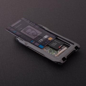 Portfel aluminiowy na karty i banknoty