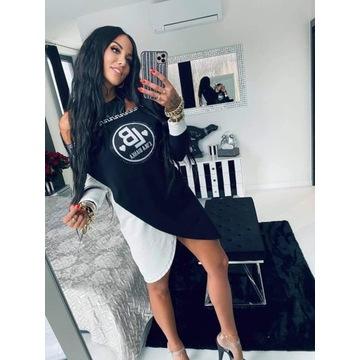 Sukienka biało/czarna Lola Bianka S/M