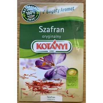 Szafran  oryginalny Kotanyi -ważność do 07.04.2025
