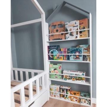 Biblioteczka domek dla dzieci/ regał na książki
