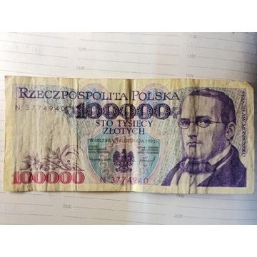 100000 zł Stanisław Moniuszko 1993  Ser. N