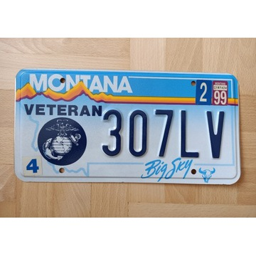 Oryginalna tablica Montana, Marins USA