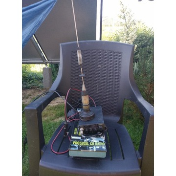 Cb radio Uniden 520 XL + antena President