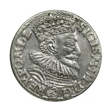 ZYGMUNT III WAZA - TROJAK 1594 MALBORK
