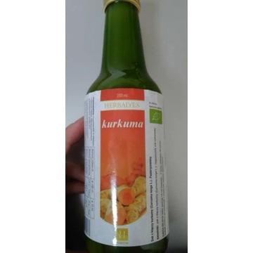 Sok z kurkumy Herbalyes 250 ml NOWY