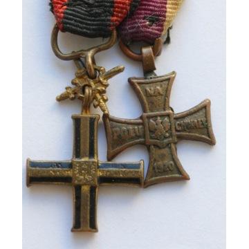Zestaw 2 szt. miniaturek odznak II RP
