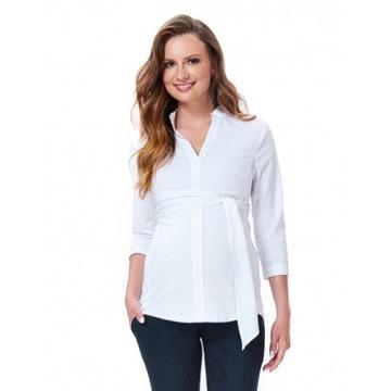 Biała koszula 9Fashion r. S dla przyszłej mamy