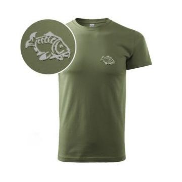 Koszulka  Wedkarska  Logo  KARP,Karp+ Zylka , SZCZ