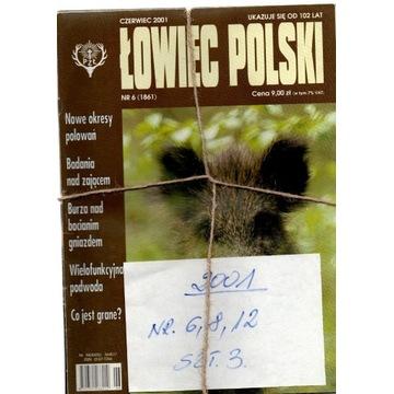 2001,ŁOWIEC POLSKI ,NUMERY JAK NA SKANIE,SZT.3