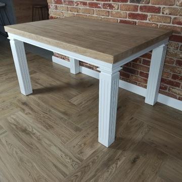 Stół drewniany odnowiony 130/90 cm