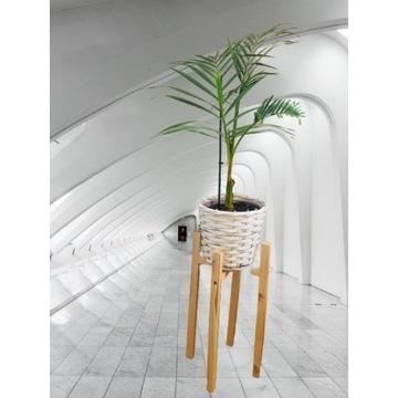 DREWNIANY Stylowy kwietnik, stojak na kwiaty-40 cm